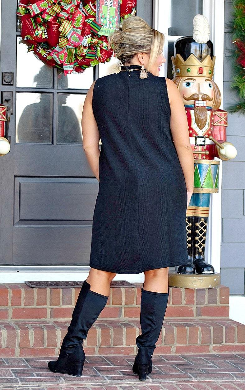 Load image into Gallery viewer, Never Miss A Beat Dress - Black