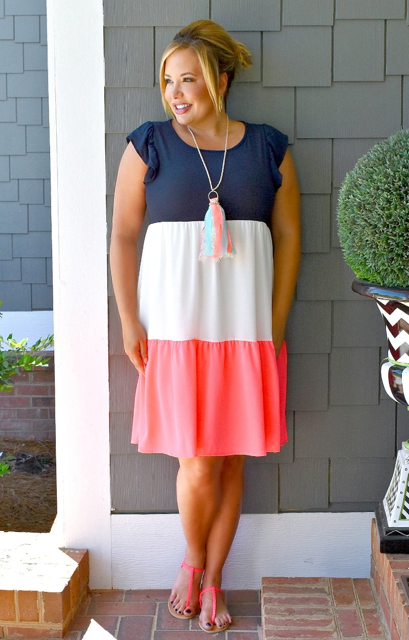 Fool For You Colorblock Dress