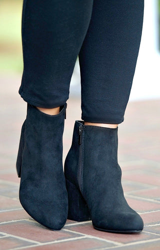 Join The Crowd Ankle Booties - Black
