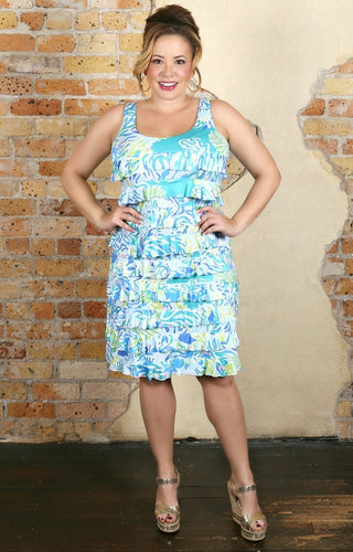 Never Let Go Print Dress  - Multi