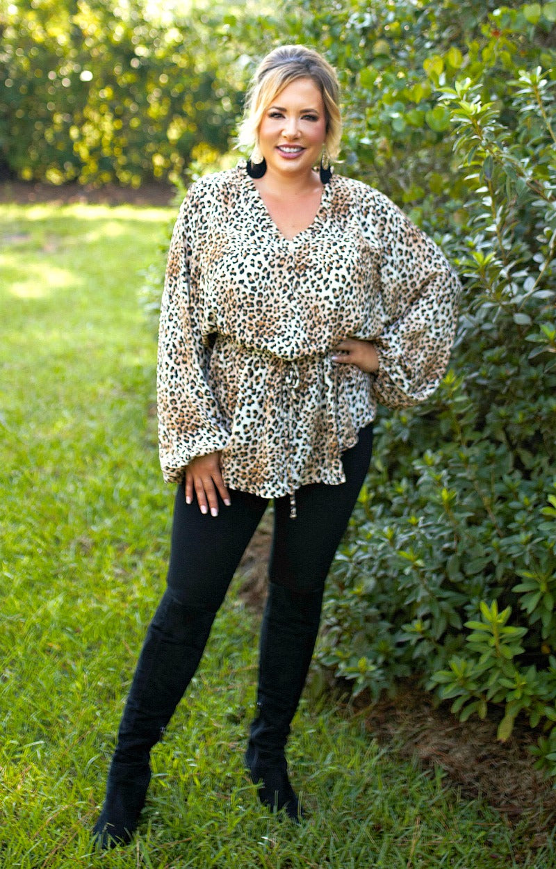 Catch A Glimpse Leopard Print Top