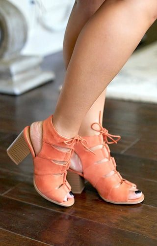 Long Nights Heels - Ash Coral
