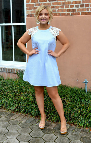 Happy With You Striped Dress - Sky Blue