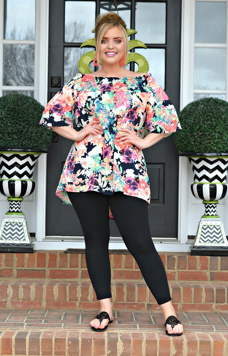 Load image into Gallery viewer, Call It A Day Floral Top - Black