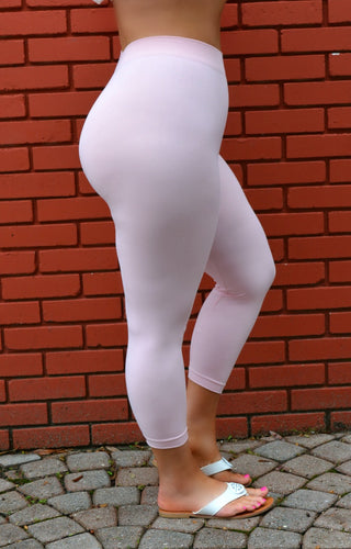 So Very Luxe Capri Leggings - Rose