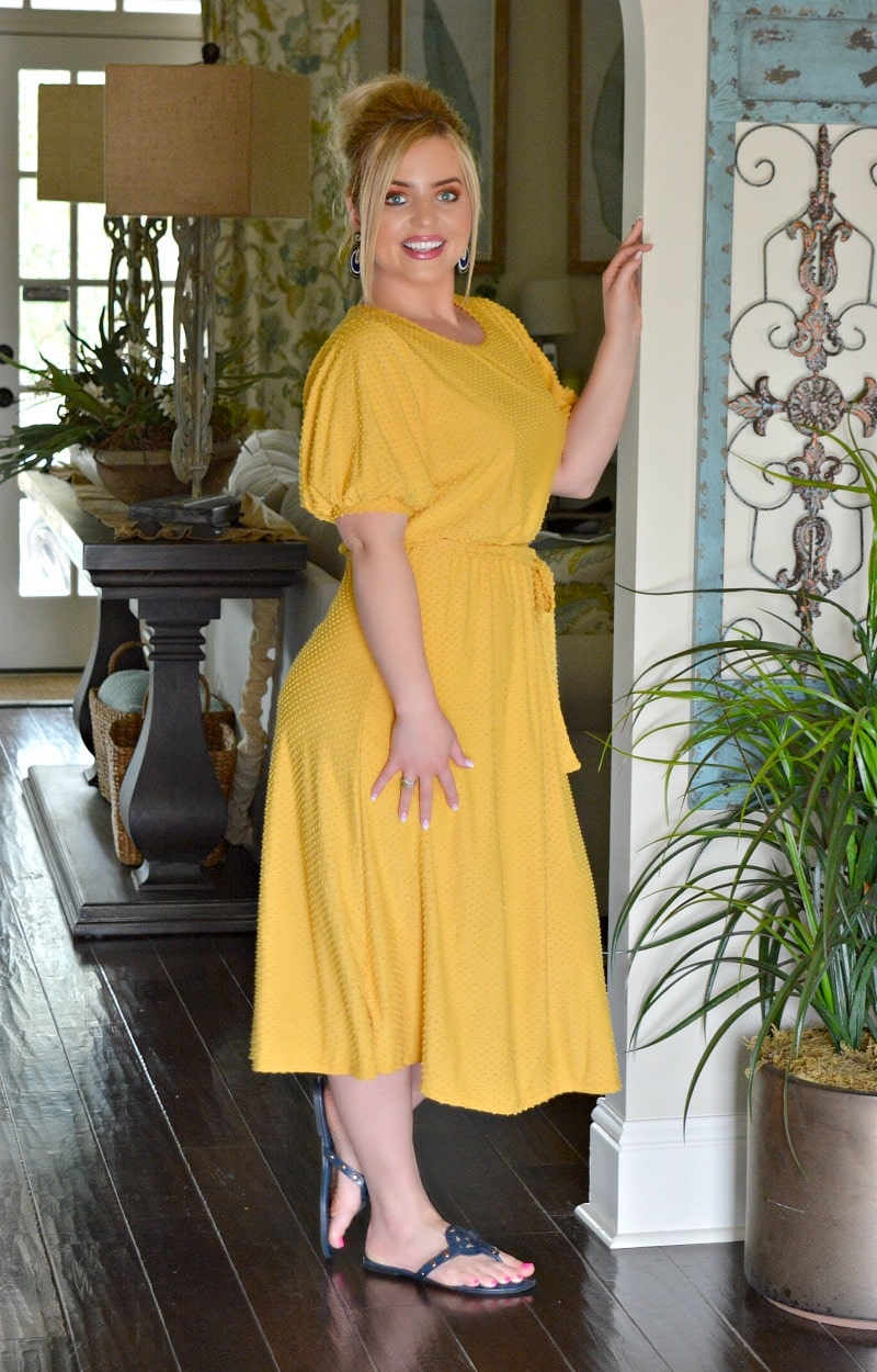 Roof Top Date Dress - Mustard