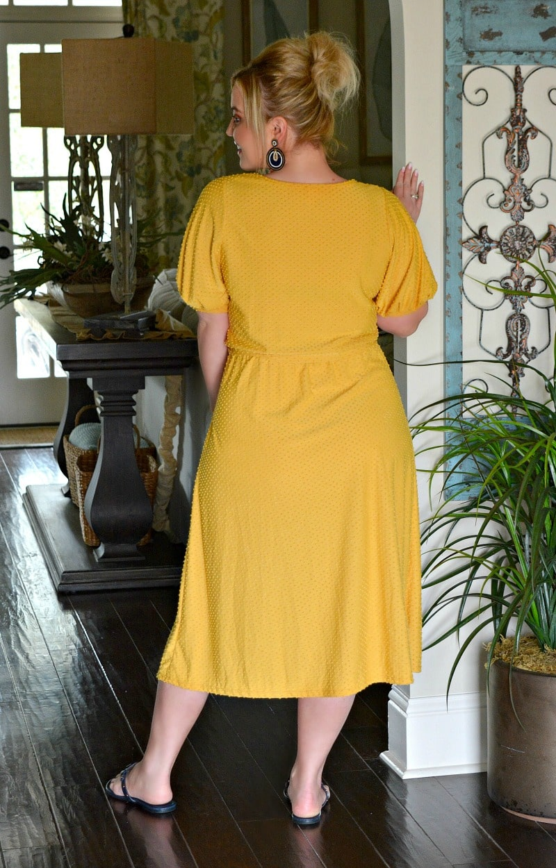 Load image into Gallery viewer, Roof Top Date Dress - Mustard