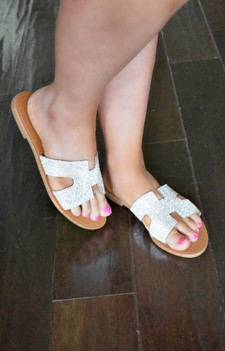Give Me The Glitz Sandals