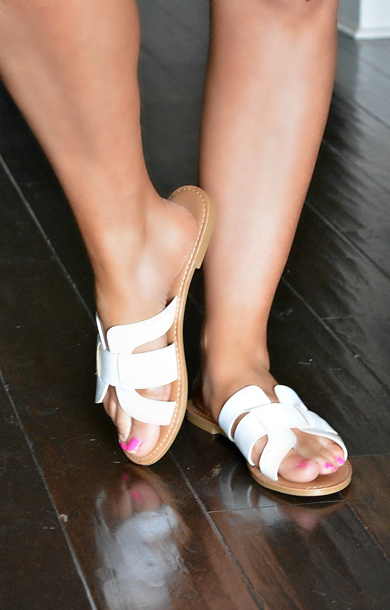Load image into Gallery viewer, Always In Motion Sandals - White