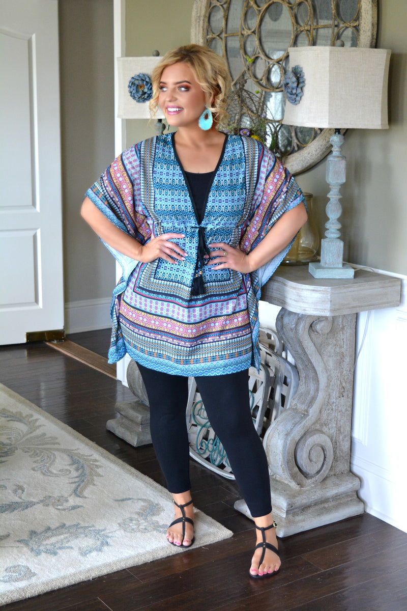 Beyond The Shore Print Cover Up - Multi