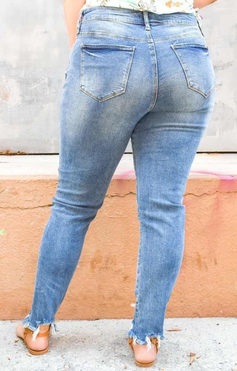 Load image into Gallery viewer, Make A Difference Distressed Skinny Jeans