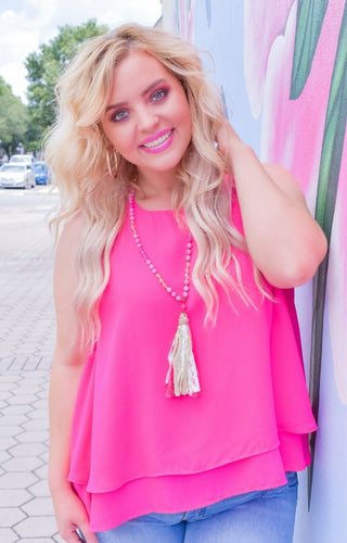 Positively Perfect Top - Hot Pink