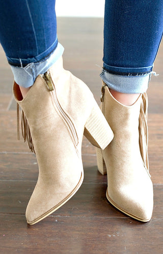 Made For Me Wedge Booties - Taupe