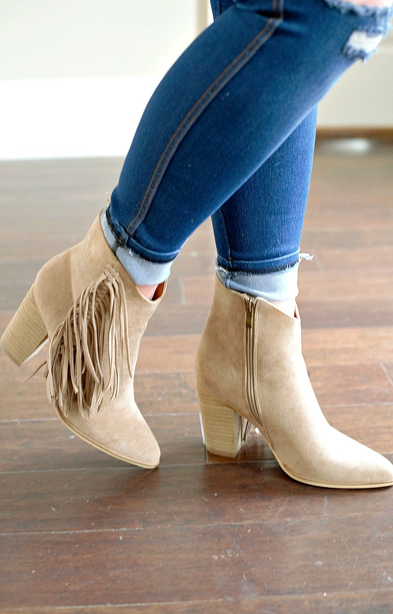 Load image into Gallery viewer, Made For Me Booties - Taupe
