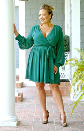 Back To It Dress - Hunter Green