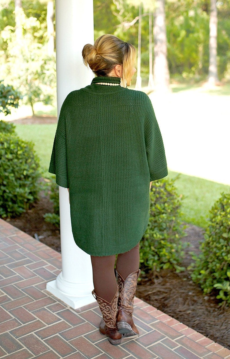 You Should Know Turtleneck Sweater - Hunter Green