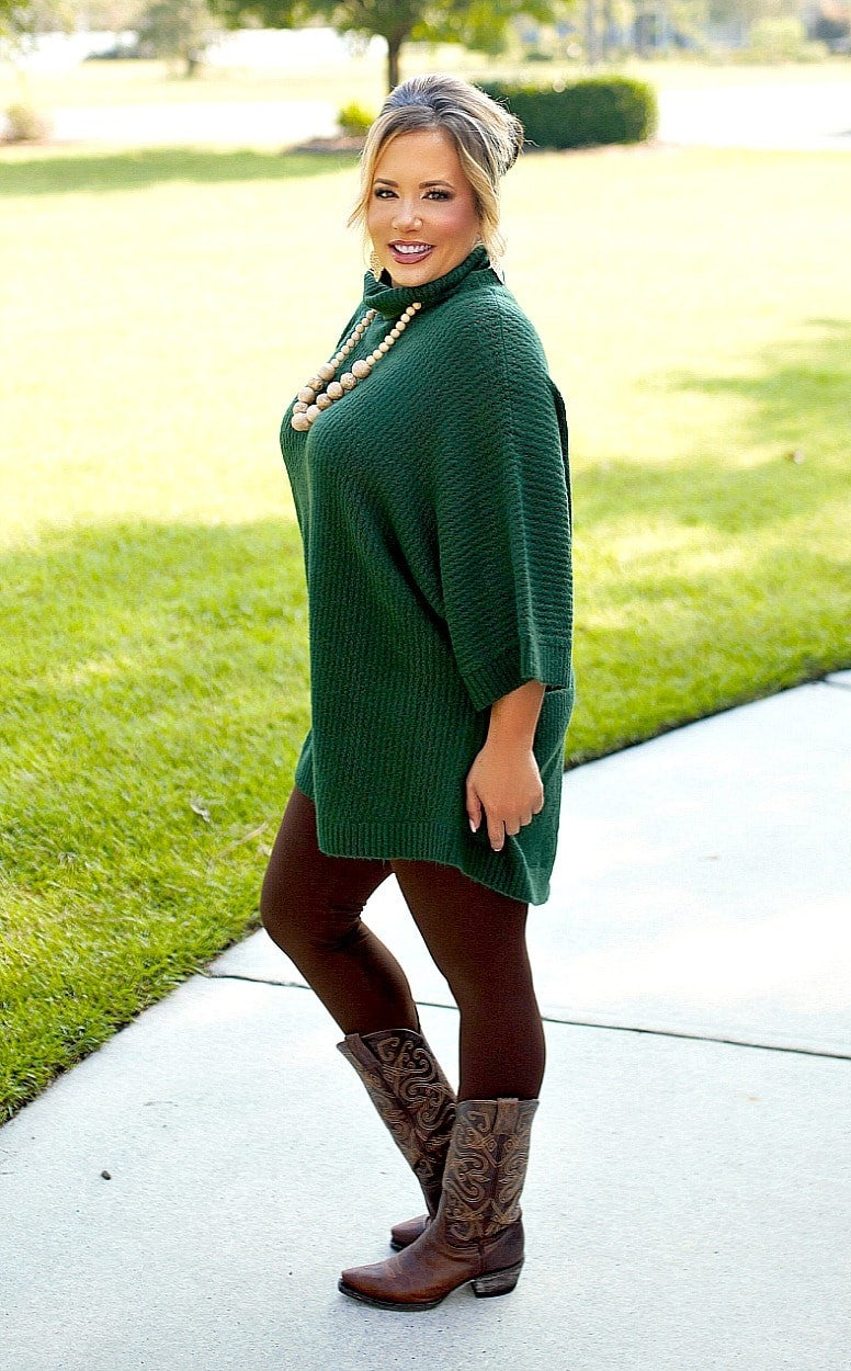 Load image into Gallery viewer, You Should Know Turtleneck Sweater - Hunter Green