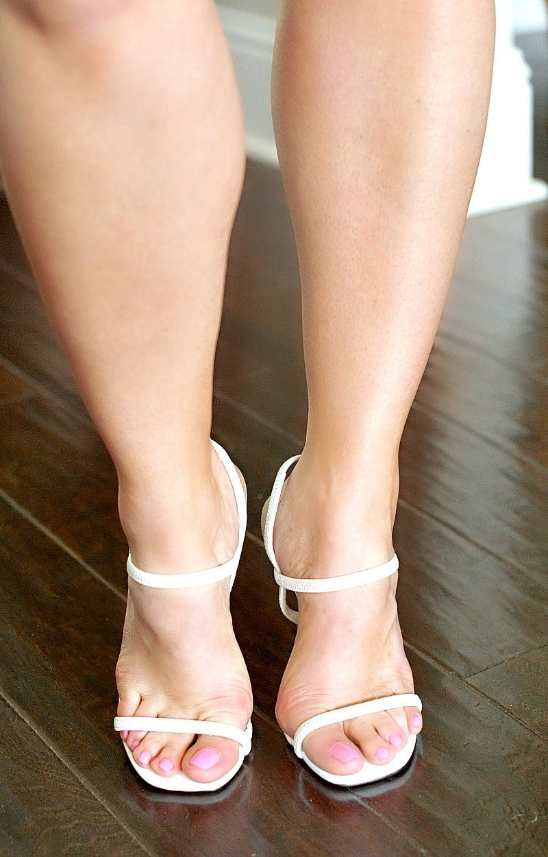 Got The Point Heels - White