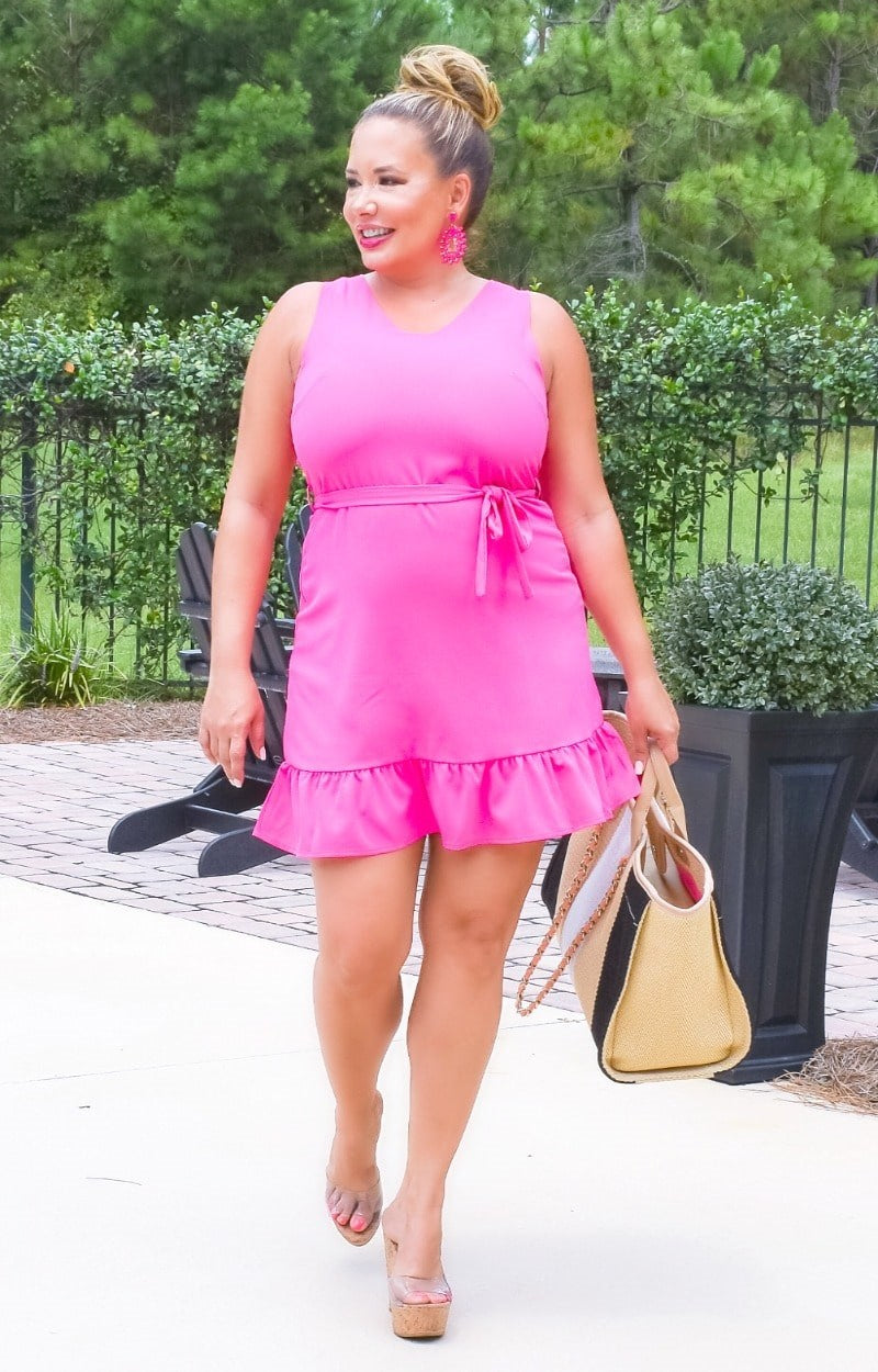 Get Noticed Dress - Pink