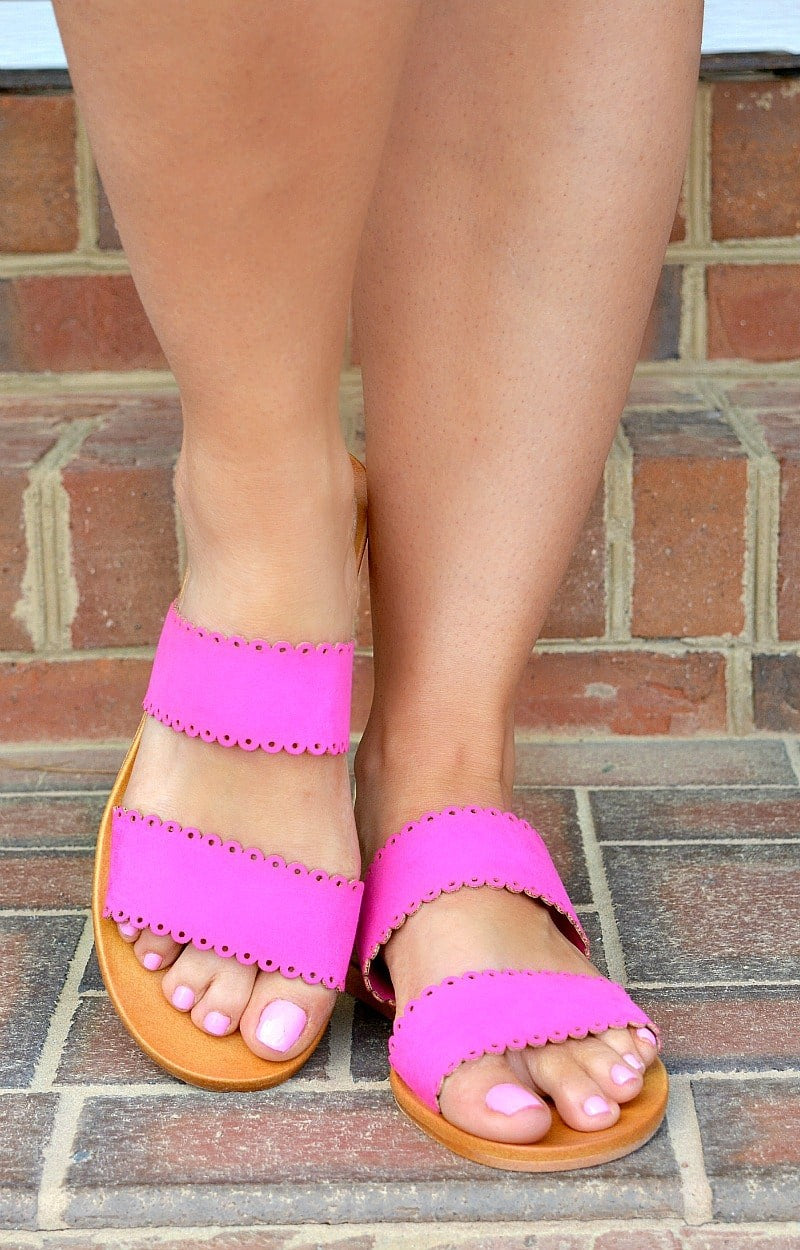 Fast Lane Sandals - Hot Pink
