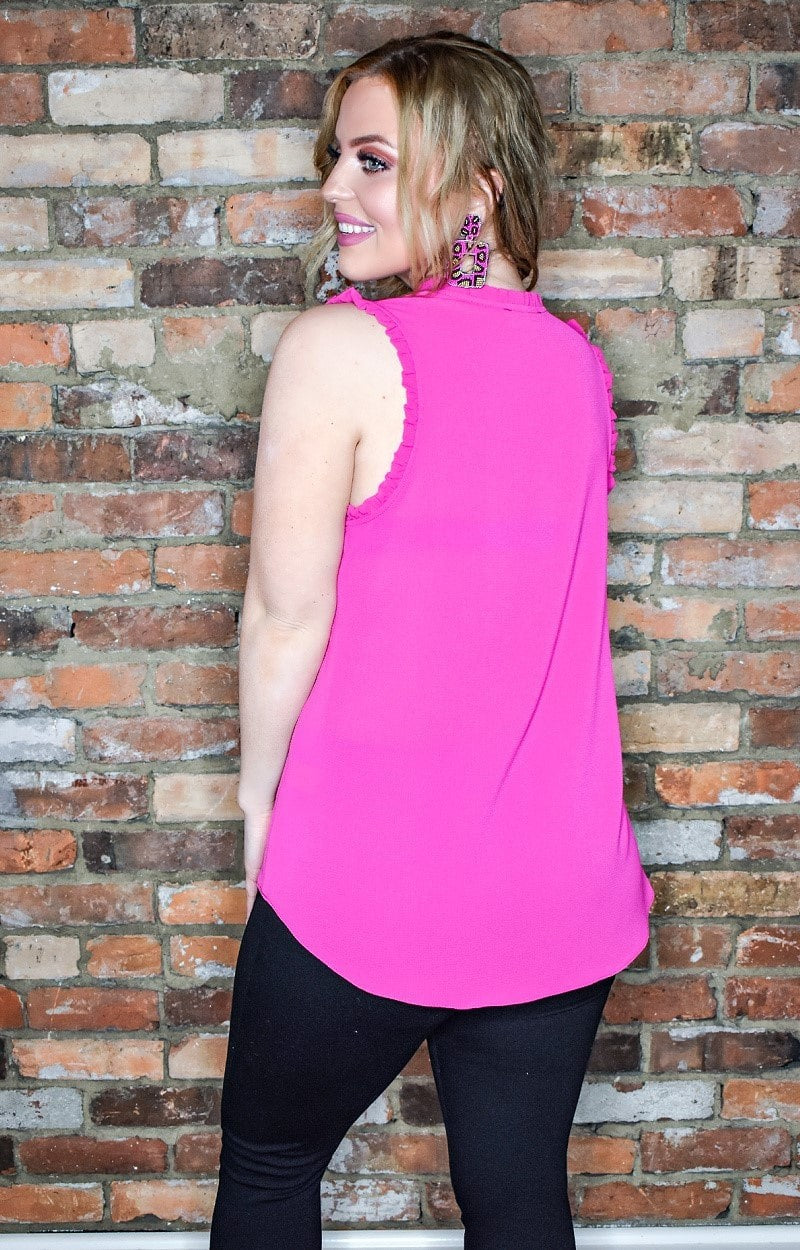 Load image into Gallery viewer, Over The Edge Top - Hot Pink