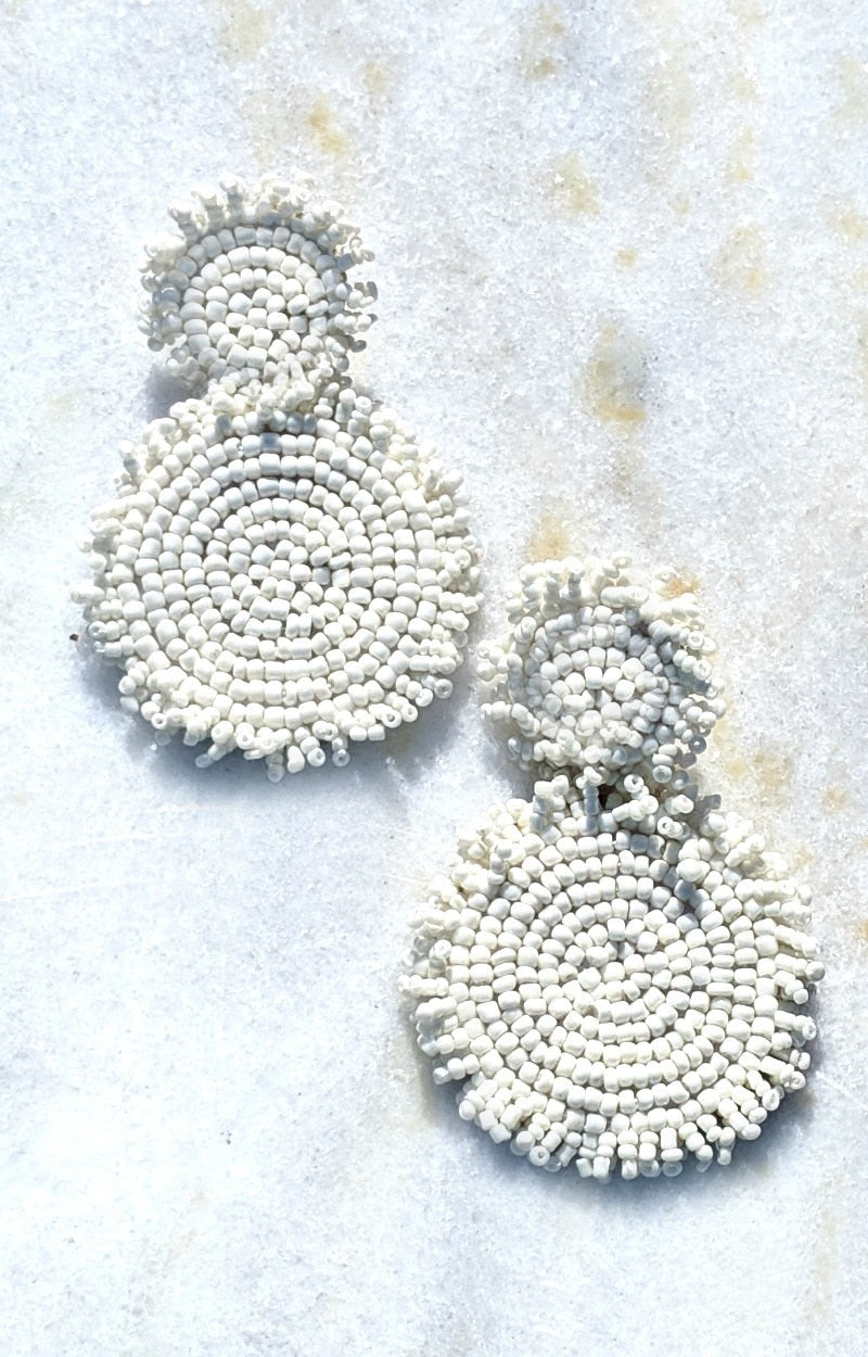 Load image into Gallery viewer, We Made It Earrings - White
