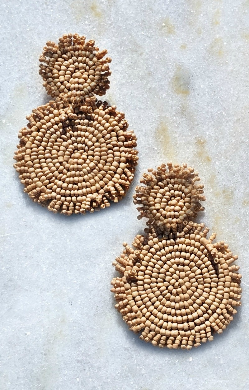 Load image into Gallery viewer, We Made It Earrings - Tan