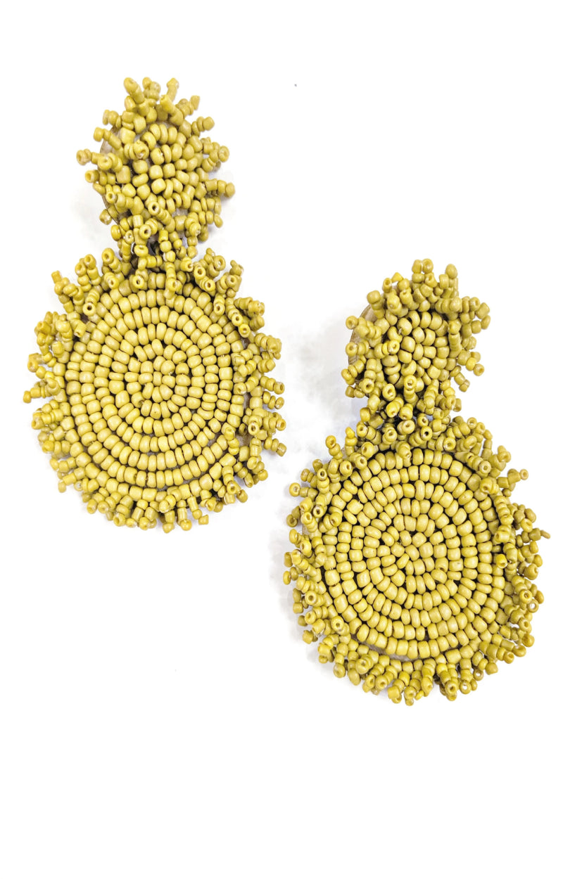 Load image into Gallery viewer, We Made It Earrings - Mustard