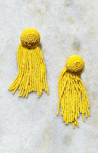 Clear My Schedule Earrings - Yellow