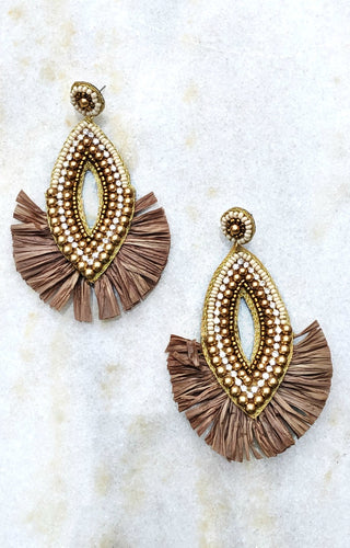 I'm Invited Earrings - Taupe