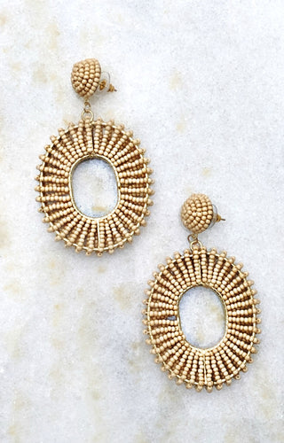 Keep A Secret Earrings - Taupe