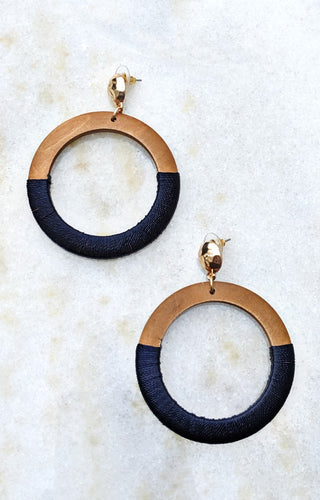No Better Way Earrings - Navy
