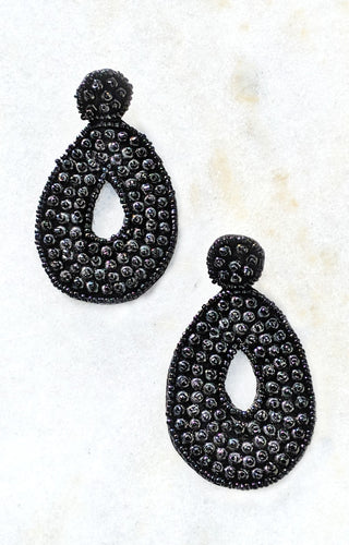 She Doesn't Get It Earrings - Black