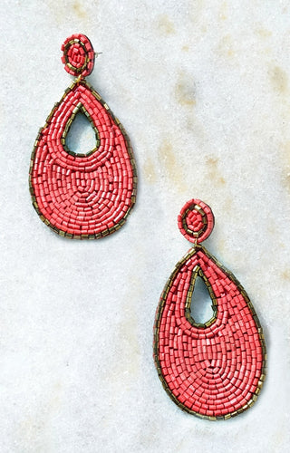 A New Direction Earrings - Coral