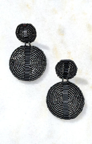 Spark The Fire Earrings - Black