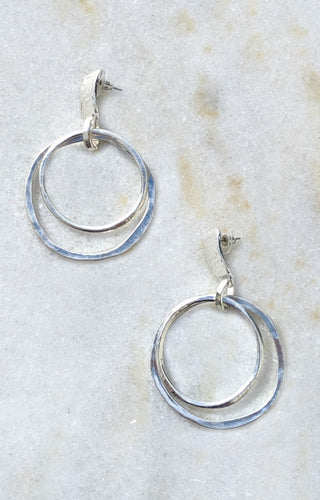 The Right Stuff Silver Hoop Earrings
