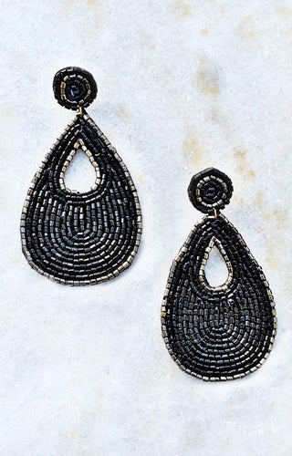A New Direction Earrings - Black