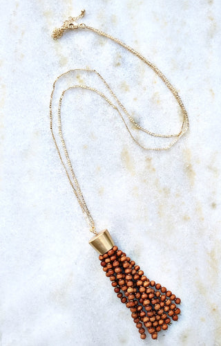 Get The Point Necklace - Brown