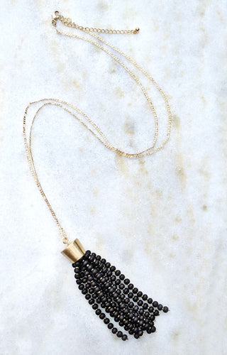 Get The Point Necklace - Black