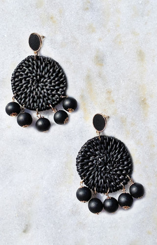 Lose It All Earrings - Black