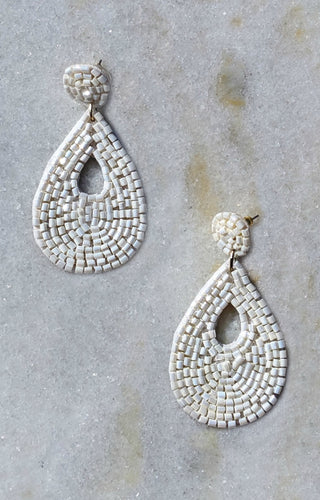 In The Game Earrings - White