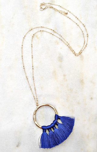 Things Are Looking Up Necklace - Blue