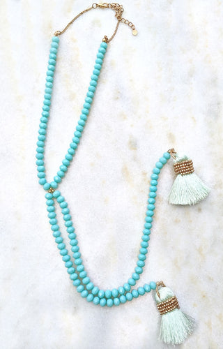 Natural Beauty Necklace - Mint