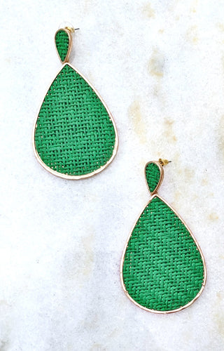 Not Easily Mistaken Earrings - Green