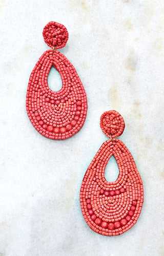 Without Warning Earrings - Red