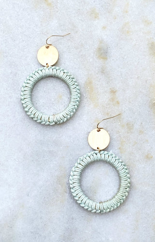 Keep Chasing Me Earrings - Mint