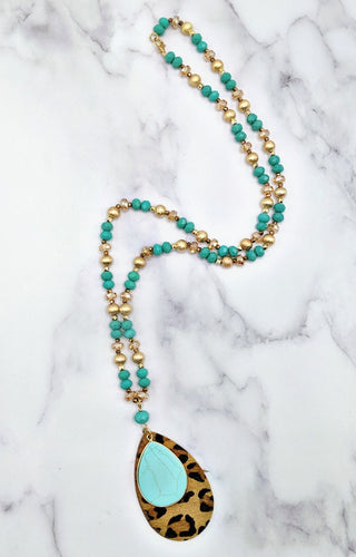 Carefree Days Necklace - Mint