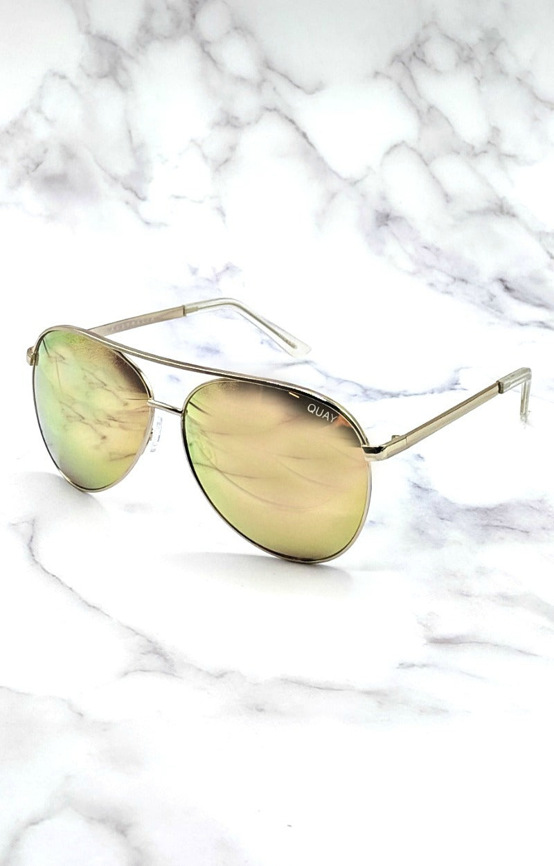 Load image into Gallery viewer, Quay Australia - Vivienne Gold/Rose Sunglasses