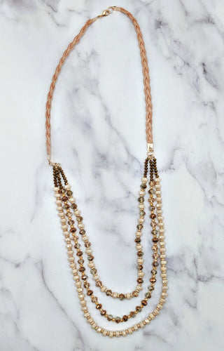 Do I Ever Draped Necklace - Pink/Gold