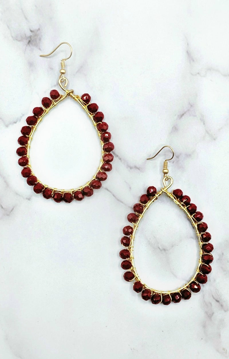 Load image into Gallery viewer, Tell You Everything Earrings - Red